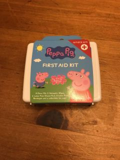 New Peppa Pig 15 Piece First Aid Kit
