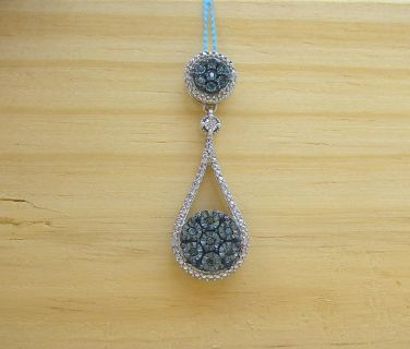 Sterling Silver and Diamond Pendant