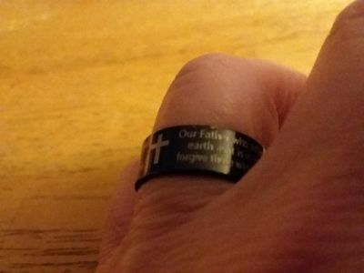 I have a Size 6, 8.5, 9.5, 11, 12, and 12.5 Lord's Prayer rings $2 each