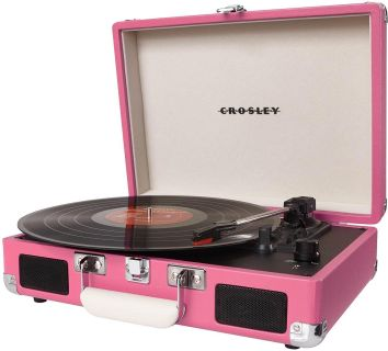 Pink Crosley Record Player