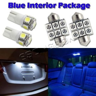 Sell 6 Blue LED Package Deal Combo For Map Dome License Plate Lights T10 194 +DE3175 motorcycle in Cupertino, CA, US, for US $14.99