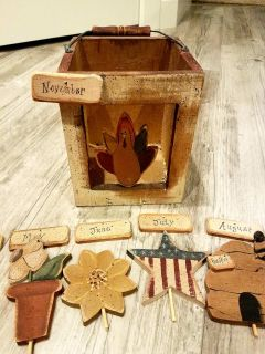 Wooden Decor box or candle holder