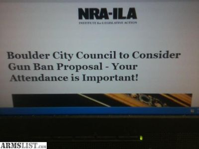 For Sale: Boulder City Council proposed Gun Ban Meeting