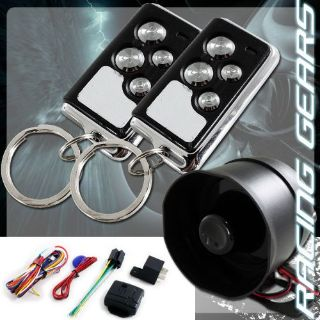 Buy 1 Way 4 Button Remote Siren Search Black Chrome Car Truck Security Alarm Kit motorcycle in Walnut, California, United States