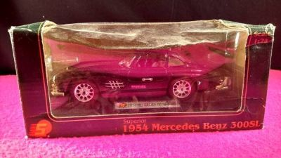 1954 Mercedes-Benz 300SL 1:24 Scale Diecast Car Model Black (T=37)