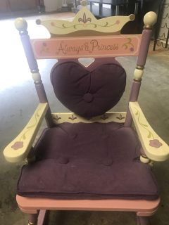Princess and the Pea rocking chair