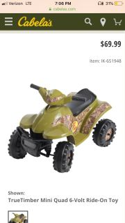 Battery powered four wheeler