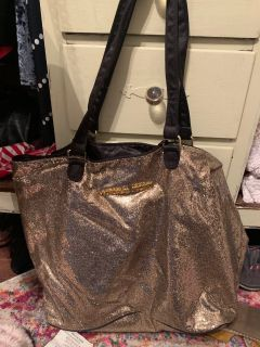 Gorgeous NEW Gold sequin Victoria s Secret tote