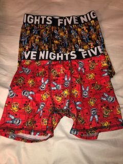 2 pairs Five Nights at Freddy s Boys Boxer Briefs