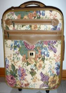 Leisure Tapestry Carry-on Suitcase ~ Rolling Luggage