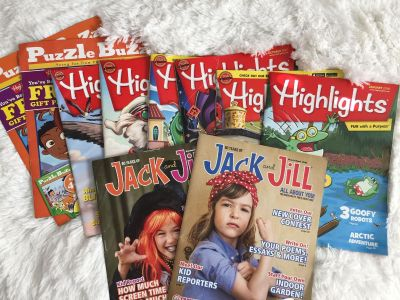 6Highlights, 2Puzzle Buzz, & was 2Jack and Jill magazines.