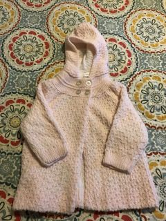 Sparkly hooded sweater size 6-9 months