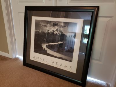 Ansel Adams Black and White Framed Picture