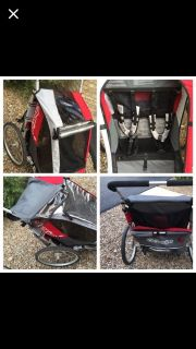 LIKE NEW! HI END Chariot Cougar 2 Seat Bike Trailer
