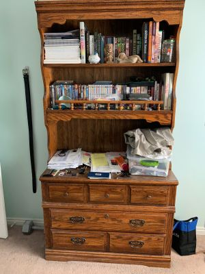 Chest of Drawers with Display Shelves