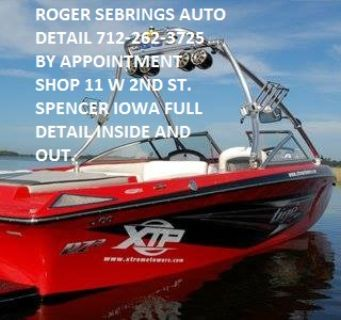 ROGER SEBRINGS AUTO DETAIL IN SPENCER IOWA CALL FOR AN APPOINTMENT 712-262-3725 SHOP 11 W 2ND ST. THANKS