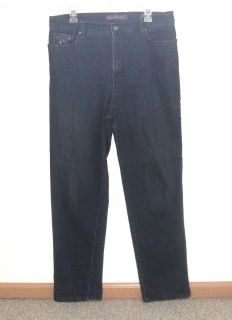 Womens 14 Gloria Vanderbilt AMANDA Embellished Straight Denim Jeans