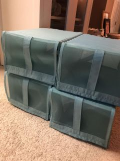 IKEA Skubb Shoe Boxes -set of 4 - perfect condition, bought the wrong item - PU INNSBROOK