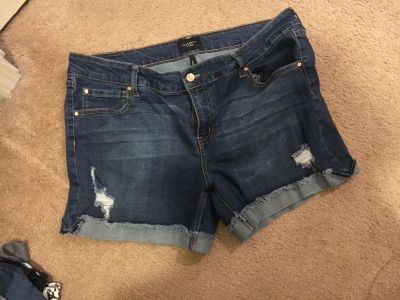 Jean shorts size 17. Are somewhat stretchy