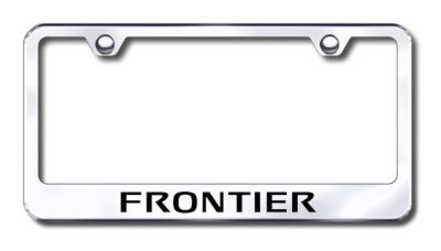 Purchase Nissan Frontier Engraved Chrome License Plate Frame -Metal Made in USA Genuine motorcycle in San Tan Valley, Arizona, US, for US $30.98