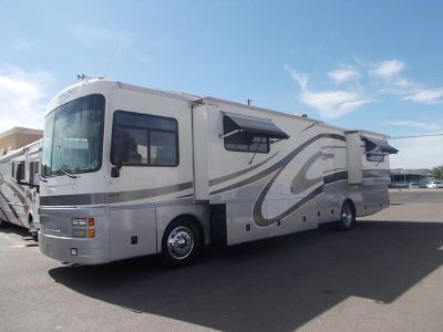 $49,900, 2002 Fleetwood Discovery Double Slide Diesel Pusher Class A Motor Home