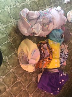 18 cloth diapers with 21 inserts newborn to toddler