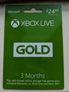 3 Month Xbox Live Gold Card