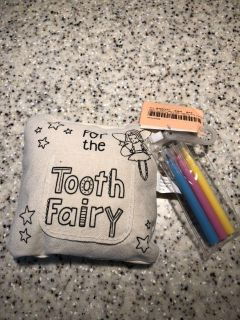 Tooth fairy pillow with markers