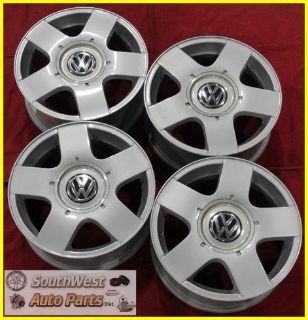 "Find 99-08 09 10 11 VW GOLF JETTA 15"" SILVER WHEELS FACTORY OEM USED ""AVUS I"" 69735 motorcycle in Independence, Ohio, US, for US $525.00"