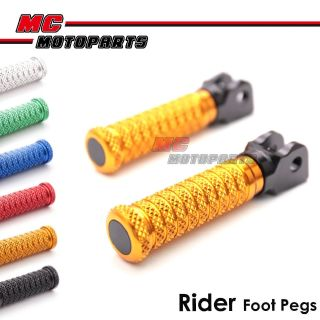 Buy MC MotoParts CNC Billet Pole Rider Front Footpegs