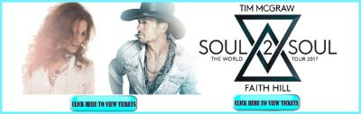 TIM MCGRAW Buffalo, NY Tickets for Soul 2 Soul Tour Concert with FAITH HILL - Great Seats 10/26/2017