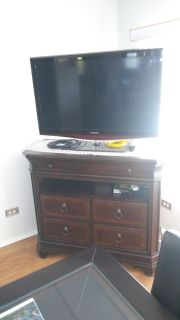 42 inch TV entertainment center 1 year old