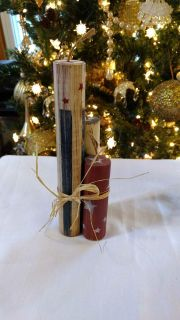 Red, White & Blue Patriotic Wood Candles