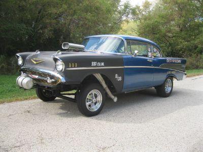 57 Chevy Street Gasser,Straight Axle,671 Blower