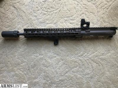 For Sale: Daniel Defense DDM4V11 SLW brown upper with Trijicon RMR and Surefire Warden