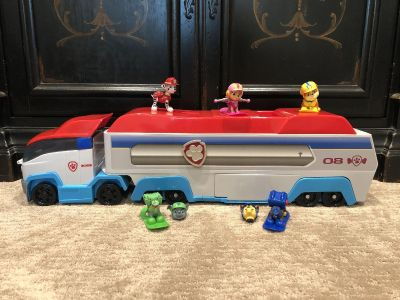 Paw Patrol Paw Patroller truck with 3 action figures.