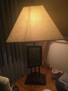 Tall Table Lamp With Slate Insert