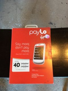 Virgin Mobile, pay lo phone, new in box