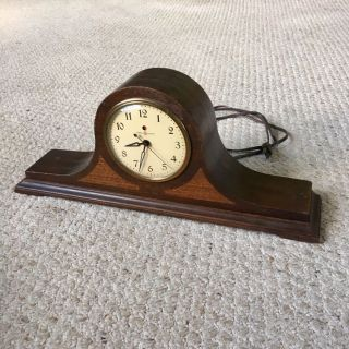 Vintage General Electric Wood Mantle Clock Model 4FO4 - PARTS OR REPAIR