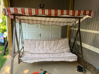 Convertible Swing/Bed with Canopy