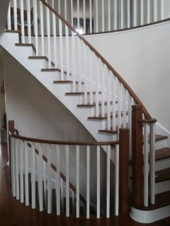 wooden staircase renovation cost Burlington