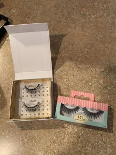 New never used lashes and eyeshadow and one blush asking $8 for all