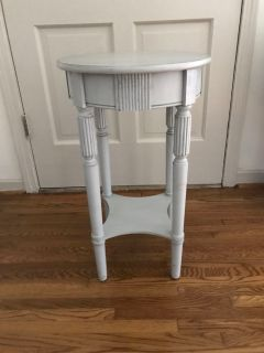 Light Blue Wooden End Table
