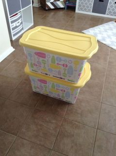 2 Large Rubbermaid Storage Containers