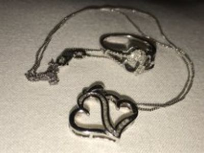steeling silver 925 necklace s/18 and ring s/8