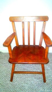 Antique Childs Wooden Chair Refinished