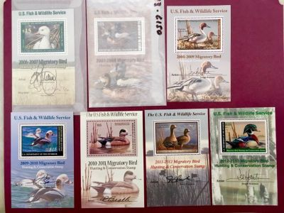 Mint Never Hinged Federal Duck Stamps beautiful set from 2006-7 to 2012-13
