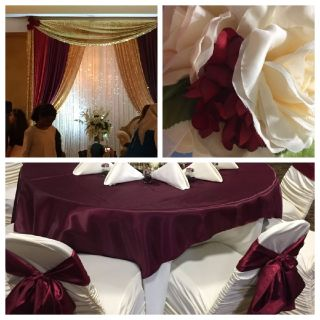 Event Rentals Tablecloths Chair Covers Backdrops