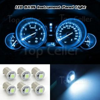 Purchase 6x Ice Blue Ba9s Light Bulb LED Instrument Panel Bayonet Dash Lamp 1815 1895 12V motorcycle in Milpitas, California, United States