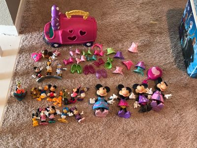 Lot of Minnie Boutique and Mickey and the gang characters